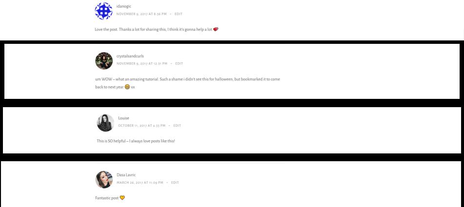 comments 2017