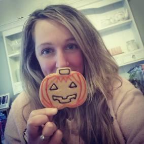 Me and pumpkin biscuit